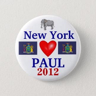 Ron Paul 2012 New York 2 Inch Round Button