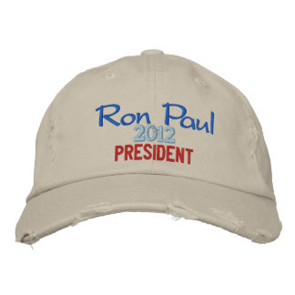 Ron Paul 2012 President Cap Embroidered Hat