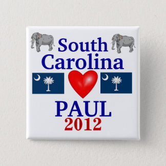 Ron Paul 2012 South Carolina 2 Inch Square Button