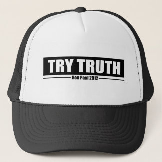 Ron Paul 2012: Try Truth Trucker Hat