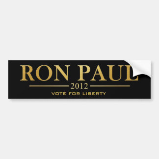 Ron Paul 2012 - Vote for Liberty (gold) Bumper Sticker
