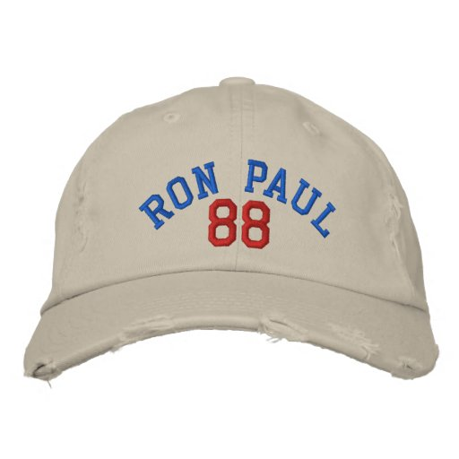 RON PAUL '88 VINTAGE Distressed Chino Twill Cap Embroidered Hat