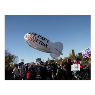Ron Paul blimp Postcard