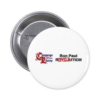 Ron Paul Campaign For Liberty Revolution 2 Inch Round Button