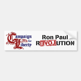 Ron Paul Campaign For Liberty Revolution Bumper Sticker
