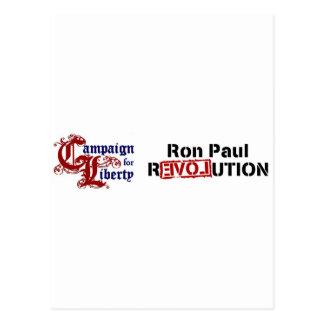 Ron Paul Campaign For Liberty Revolution Postcard