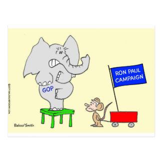 Ron Paul campaign scares Republicans. Postcard