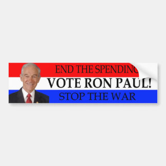 Ron Paul color bumper sticker