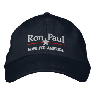 Ron Paul Customizable Campiagn style Hat Embroidered Hats