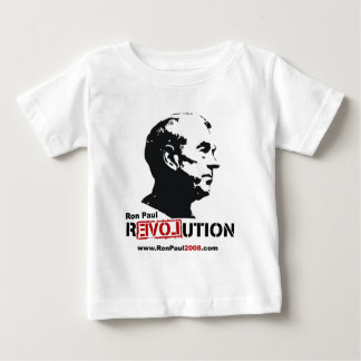 Ron Paul face Stencil - Revolution Baby T-Shirt