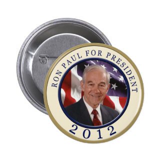 Ron Paul For President 2012 2 Inch Round Button