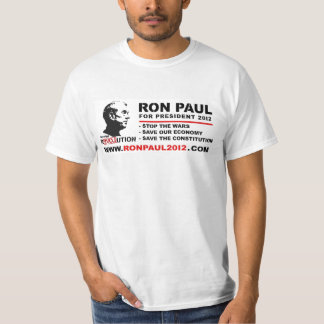 Ron Paul For President 2012- Save the Constitution T-Shirt