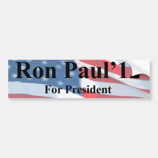 Ron Paul For President Bumpersticker Bumper Sticker