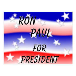 Ron Paul For President Fading Red White And Blue Postcard