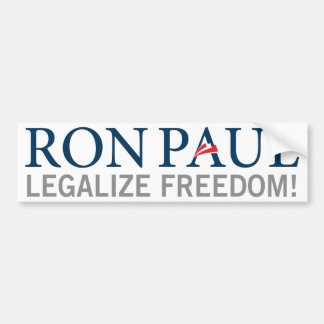 Ron Paul Legalize Freedom Bumper Sticker