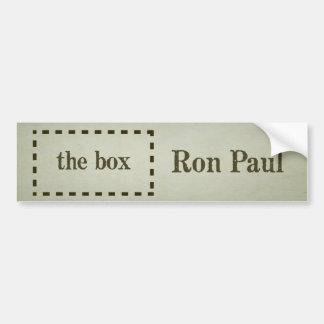Ron Paul Outside The Box Bumper Sticker