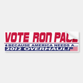 Ron Paul Overhaul Bumper Sticker