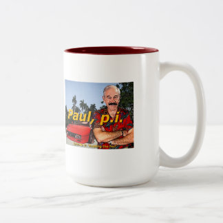 Ron Paul P.I. Episode 9: 'Busting the fed' Coffee Two-Tone Coffee Mug