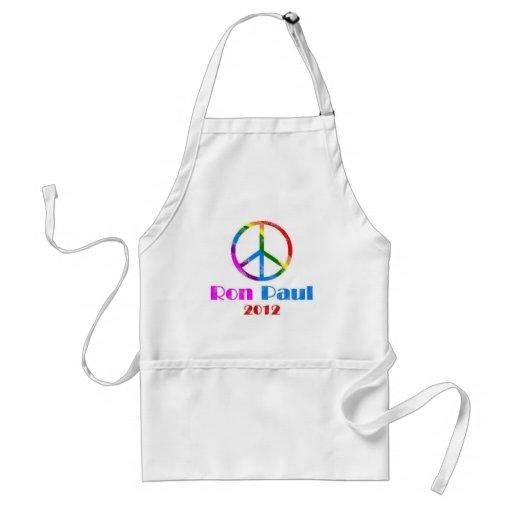 Ron Paul Peace Sign Rainbow Apron