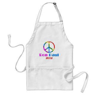 Ron Paul Peace Sign Rainbow Standard Apron