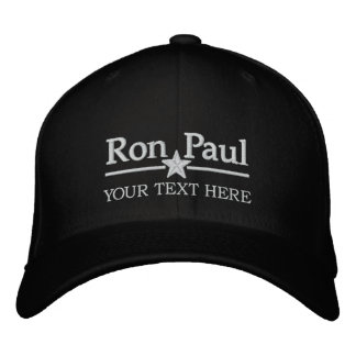 Ron Paul Personalized Text Baseball Cap