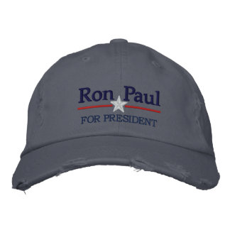 Ron Paul Personalized Text Embroidered Baseball Cap