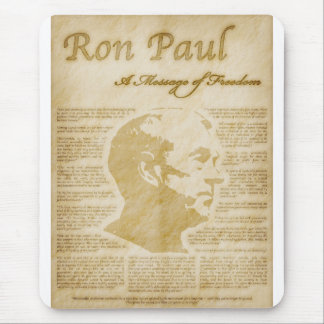 Ron Paul Quotes A Message Of Freedom Mouse Pad