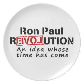 Ron Paul rEVOLution An Idea Whose Time Has Come Party Plates