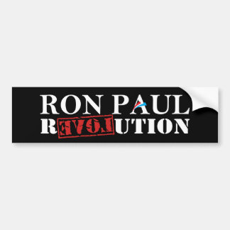 Ron Paul Revolution Black Bumper Sticker