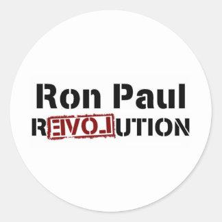 Ron Paul Revolution Classic Round Sticker