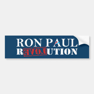 Ron Paul Revolution Dark Blue Bumper Sticker
