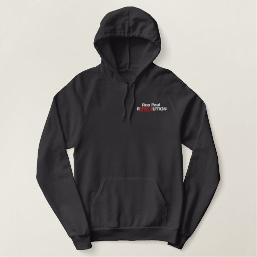 Ron Paul Revolution Embroidered Hoodie