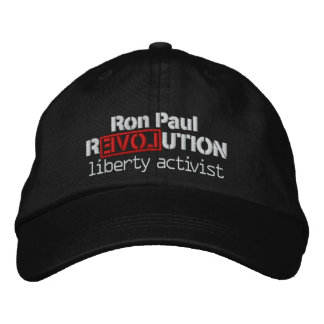 Ron Paul Revolution Hat Embroidered Hat