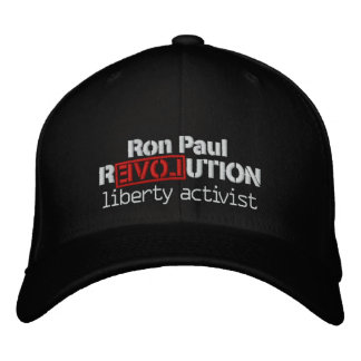 Ron Paul Revolution Hat Embroidered Hats
