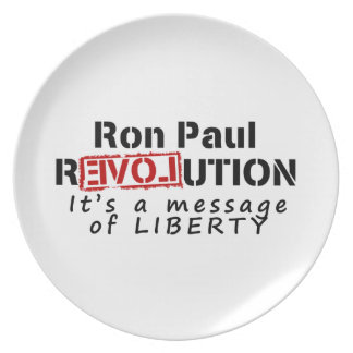 Ron Paul rEVOLution It's a message of Liberty Plate