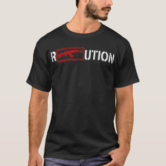 Ron Paul Revolution logo with an AK47 in white T-Shirt