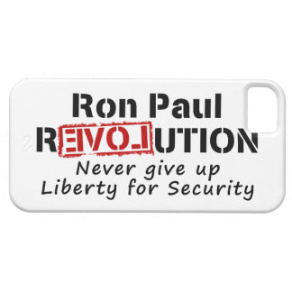 Ron Paul rEVOLution Never give up Liberty iPhone 5 Covers