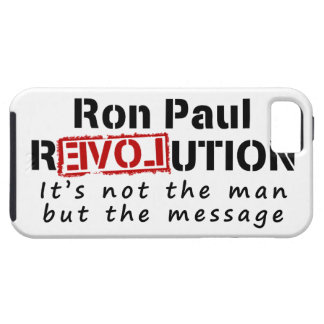 Ron Paul rEVOLution not the man but the message iPhone 5 Cases