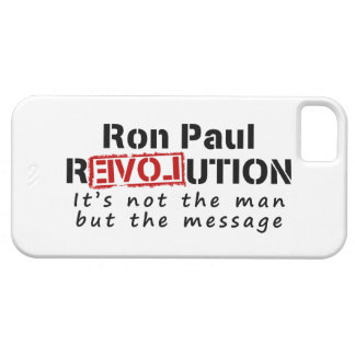 Ron Paul rEVOLution not the man but the message iPhone 5 Case