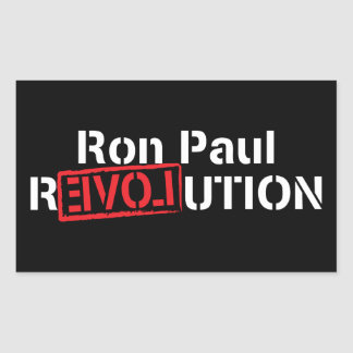 Ron Paul Revolution Rectangular Sticker