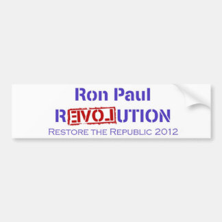 Ron Paul Revolution Restore the Republic Bumper Sticker