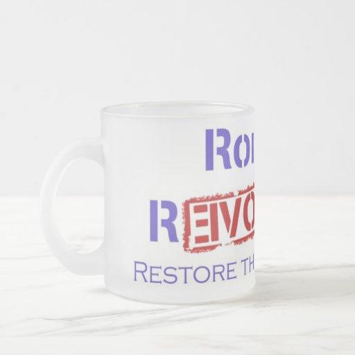 Ron Paul Revolution Restore the Republic Coffee Mugs