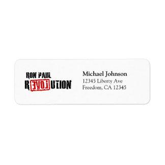 Ron Paul Revolution Return Address Label