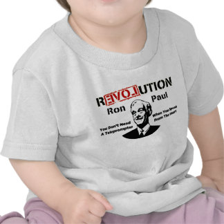 Ron Paul rEVOLution Speak From The Heart Tshirts