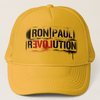 RON PAUL REVOLUTION STENCIL GRAFFITI HAT! TRUCKER HAT
