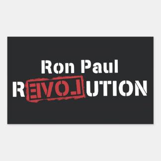 Ron Paul Revolution Sticker Large Square -4 pieces