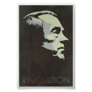 Ron Paul Revolution Vintage Poster