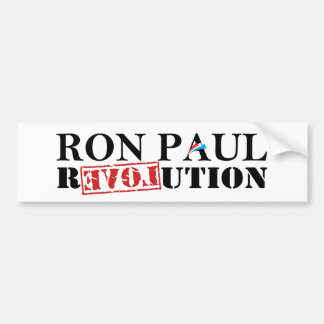 Ron Paul Revolution White Bumper Sticker