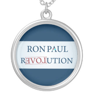Ron Paul Silver Plated Necklace