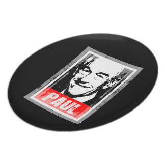RON PAUL STAMP FADED.png Party Plates